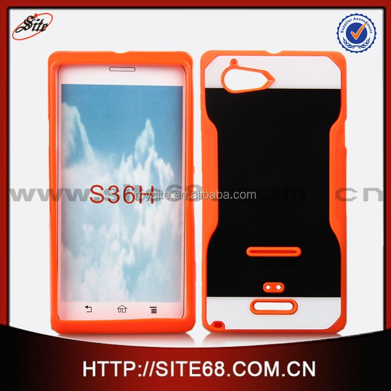 Hybrid Hard PC+TPU combo cover case for Sony S36H