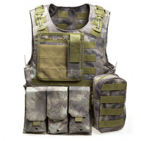 Multicam Outdoor Fishing Accessories Camouflage Vest Multi Pockets Military Tactical Airsoft Molle Plate Carrier Hunting Vest