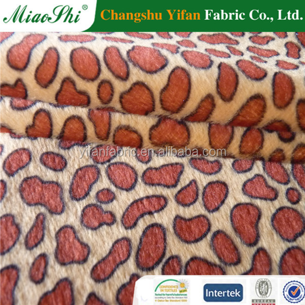 100% polyester short fleece fabric for winter coat made by haining maker