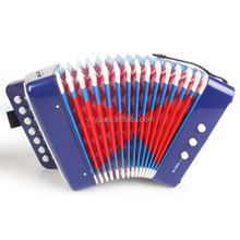 7Button 2Bass 14Tone Junior Accordions,Children toy accordion,musical instrument for little kids