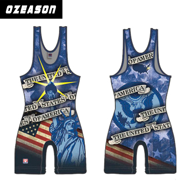 Custom design hot sell sublimation wholesale wrestling,pink sexy women wrestling singlet