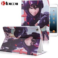 Best sale Foldable luxury cartoon pu/genuine leather tablet case for ipad