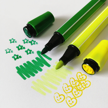 24 pcs Colorful non toxic washable double side stamp water color marker pen