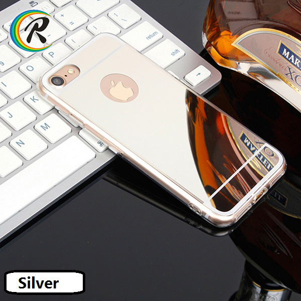 electroplate mirror tpu cell phone accessoies case /shell/ housing for iPhone 7 custom mobile phone electroplated mirror shell