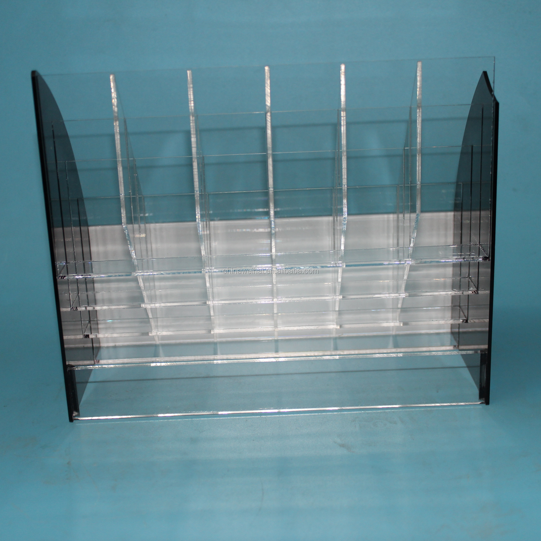 Clear  5 Tiers Acrylic Ball Pen Display Stand