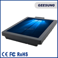 metal case waterproof bezal free seamless screen pos with MSR/standard vesa hole is available install different metal stand