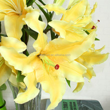 High quality China bulk sale real touch flowers lily artificial flower in bangkok