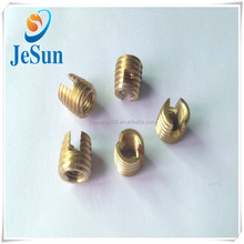 Direct sales inside and outside thread copper nut,brass insert.