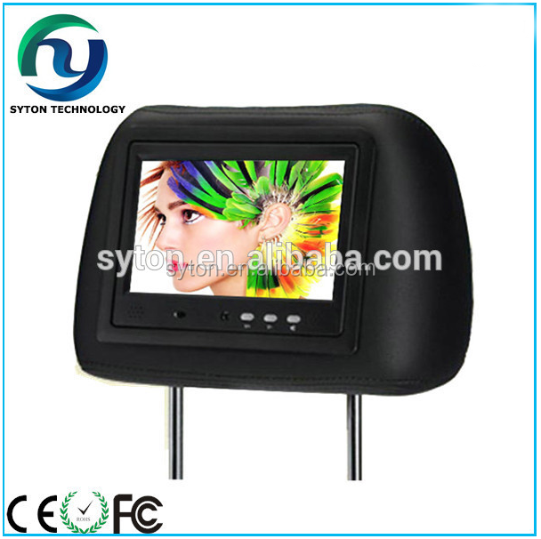 7inch 9inch wifi/3g Headrest taxi advertising monitor for taxi ad use