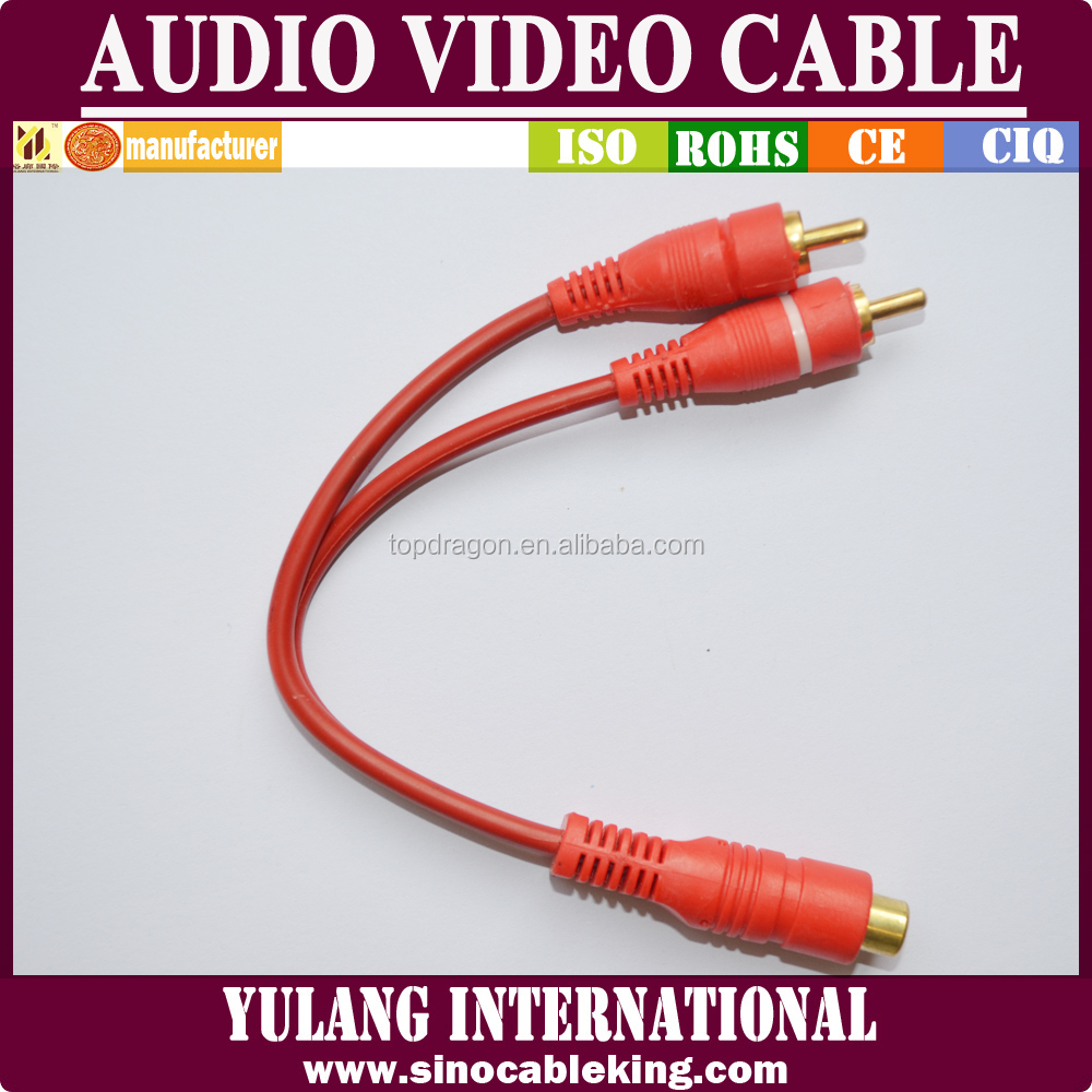 Y Lead Plastic Home RCA Audio Video Cable Assembly