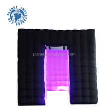 Outdoor Black Lighting inflatable photo booth inflatable Cube tent with LED for sale