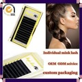 Milkyway top quality wholesale all size J B C D curl thick 100% real mink individual lash,mink lash extensions