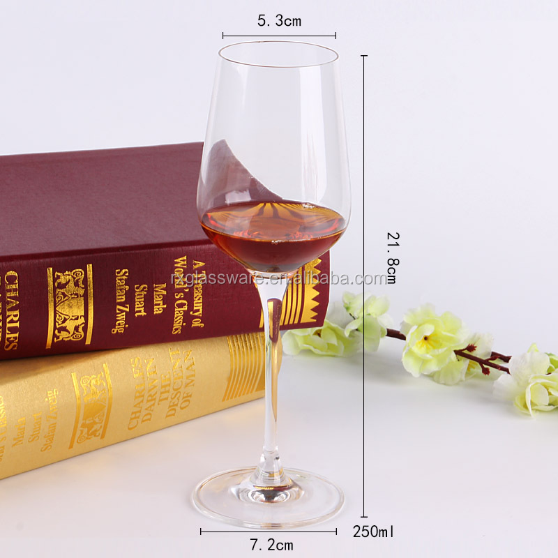 FDA Passed Used at Party Bar Lead Free Brandy Wine Stemware Glass Wine Glass With Plum Color Body And Clear Stem Stemware