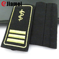 Jiamei factory OEM denim fabric sew on embroidery epaulette