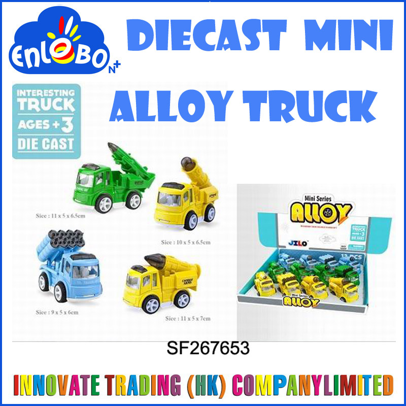 Mini funny diecast pull back toys, pull back die cast truck,Military vehicles alloy car for children