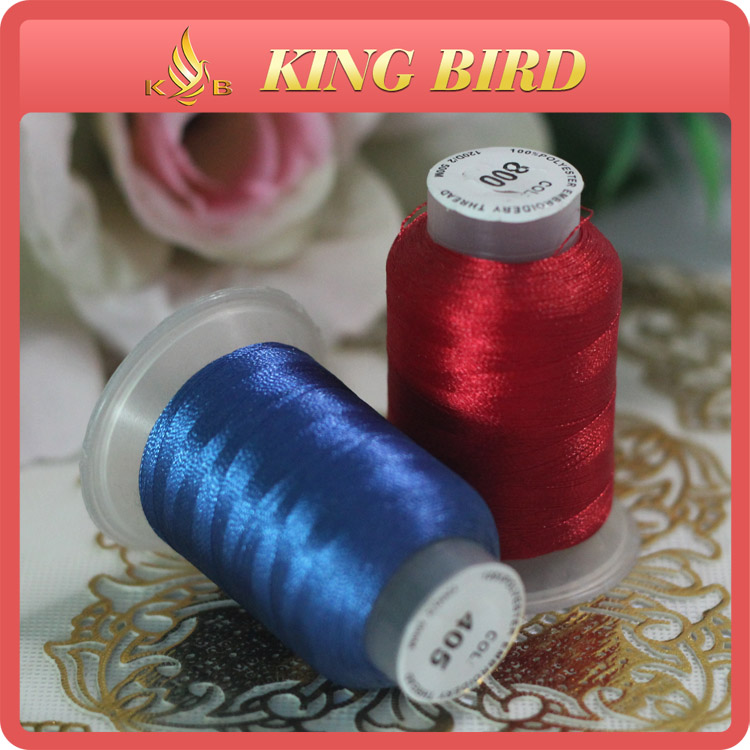 100% Polyester High Tenacity Embroidery Thread Color Card 120D/2