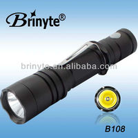 Brightness Aluminum Cree Police Belt Clip LED Flashlight