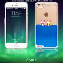 Cute Plastic 3D Liquid Phone Case Cover For Apple iPhone 5/6/6 Plus/7/7 plus/8