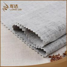 Longda Bulk wholesale popular eco-friendly woven linen viscose gray fabric