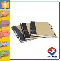 hot new products 2015 promotional recycled spiral bound notebook with custom design