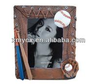 Resin sports baseball picture frame