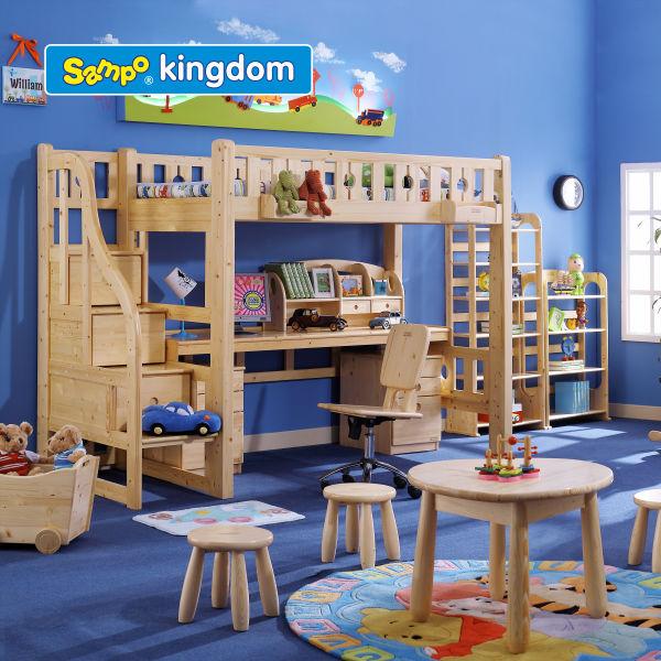 Ni os scholl o casa cama litera de madera camas para ni os - Camas casa para ninos ...