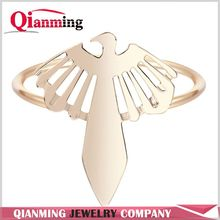 Inca Falcon Ring Gold Silver Color Selectable Hollow Out Flying Bird SkyStinger Shikra Rings Fahsion Jewelry