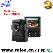 2.4 Inch LCD 1080P dual video recording Camera for Taxi Car DVR Built in GPS logger dashboard camera