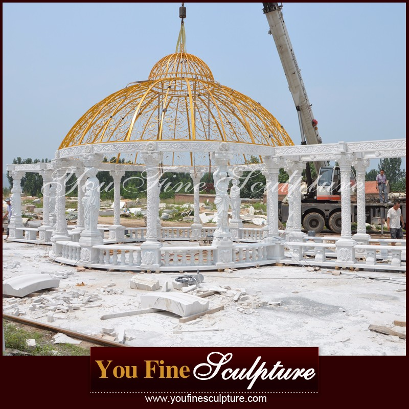 Garden Large Marble Outdoor Gazebo