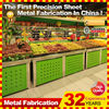 customized made furniture supermarket stainless steel fruit rack