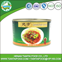 China food packaging canned spiced pork cubes
