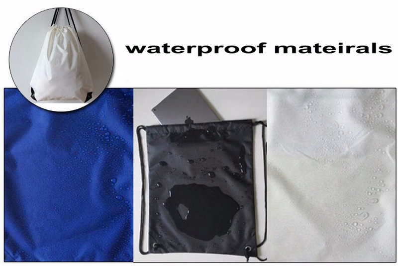 Cheap custom promotion sublimation full printing waterproof nylon polyester drawstring bag