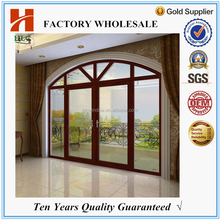 Chinese wholesale suppliers powder coated 2.0mm aluminum unbreakable glass door