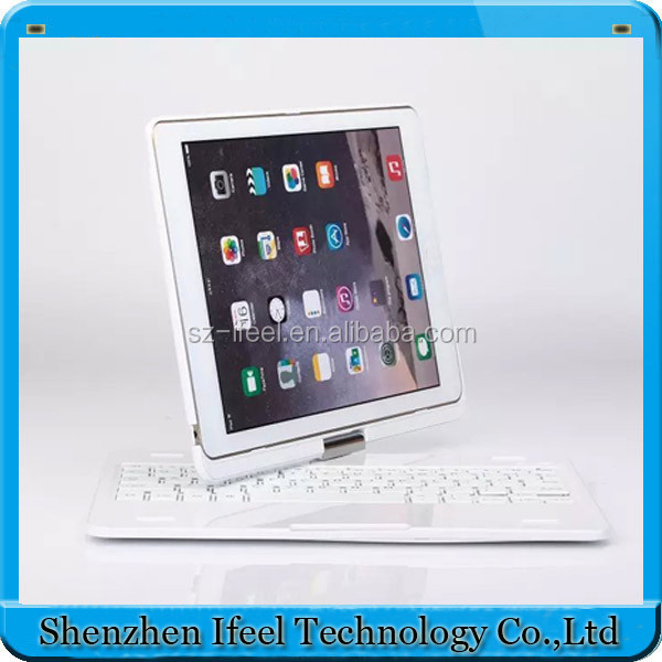 360 Rotating Bluetooth Wireless Keyboard Case Cover Skin Stand for iPad Air 2