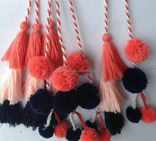 Alibaba high quality fashion eco-friendly Gold tassel and fringe tassel bag