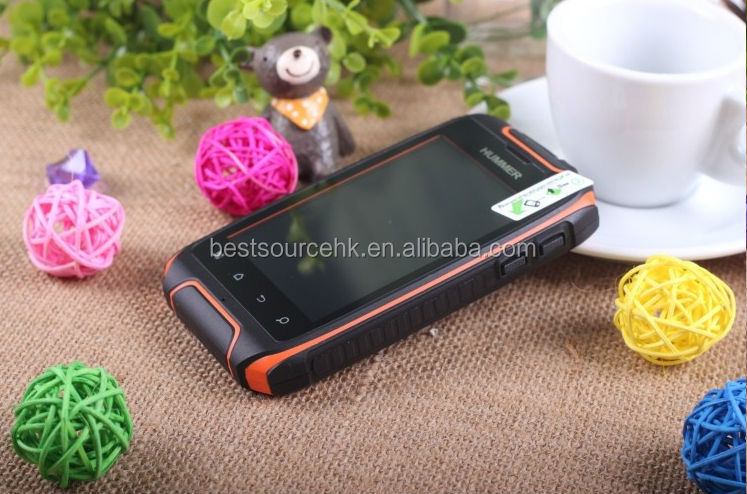 WIFI GPS Bluetooth Rugged Hummer H1 Android Smart Ultra-Slim Bar Touch Screen Mobile Phone