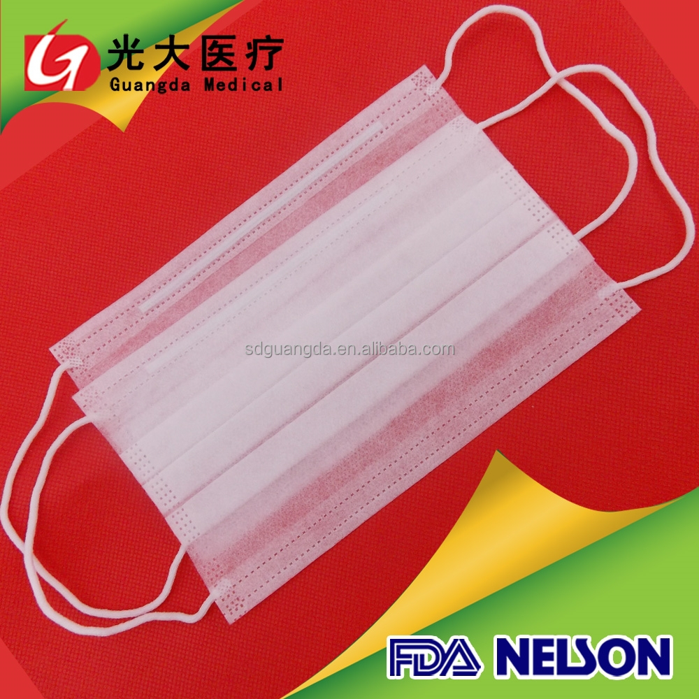FDA standerd disposable nonwoven plane face mask