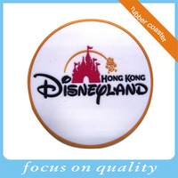2016 round shape high quality 80mm customized rubber coasters 3d convex logo and design