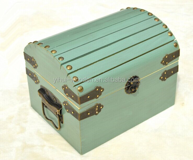 Wholesale New Design Personalized Small And Large Wooden Wedding Treasure Chest Card Box with Card