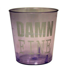 Plastic 1oz Damn Fine 12 pc Shot Glass Set (Purple)