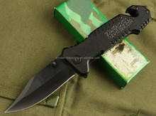 OEM Aluminum handle hunting knives pocket folding with rope cutter blade