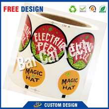 Custom high quality offset printing waterproof vinyl sticker roll