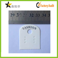 Fashion Jewelry price hang tags,pvc/paper card for earring/necklace