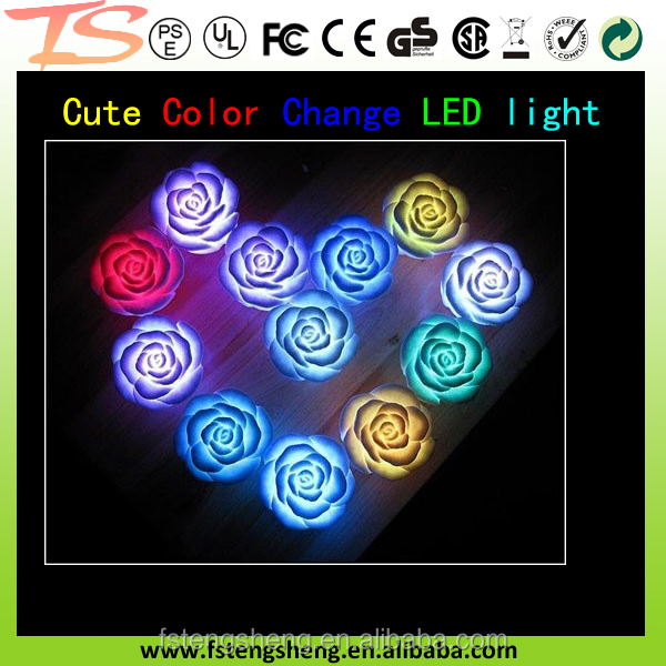 Lighting Rose light LED Flashing Rose Flower/7 Color Changing Mini Night Lights