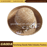 Different color man wheat straw hat