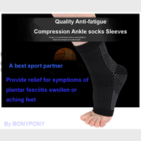 Foot Sleeve Plantar Fasciitis Compression Sleeve Socks Sore Achy Swelling Heel Ankle Running Basketball anti Fatigue Sock