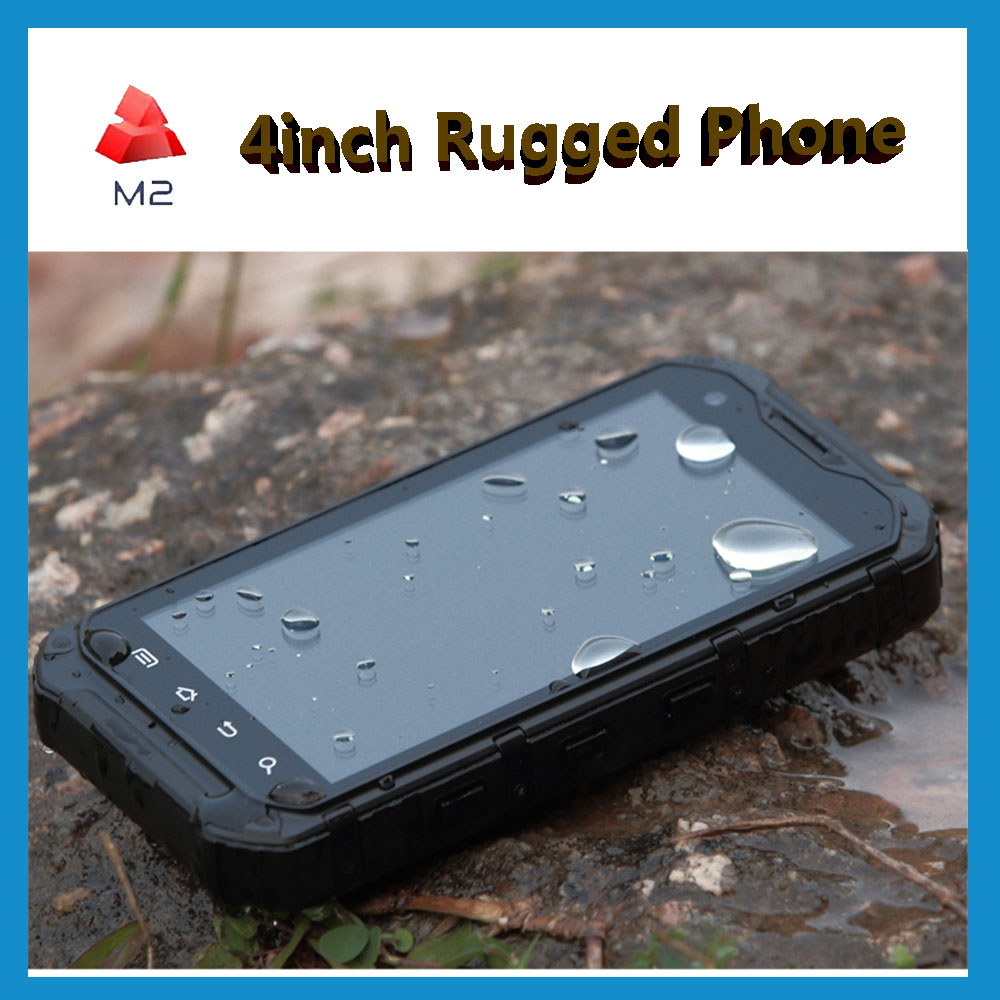 Cheap Rugged Phone Waterproof Mobile NFC Mobile 16GB Rom IP68 BT BLE GPS 8MP Camera 4inch Touch Screen Android Handheld