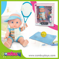 Top sale 9 inch battery operated cartoon toys silicone baby born dolls