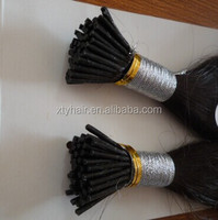 alibaba china manufacturer wholesale I-tip/stick tip pre bonded hair extension 100% virgin remy human hair