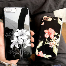 Hot bumper case flower mobile phone cover, for iphone 7 case tpu, for iphone 7 plus protective phone case